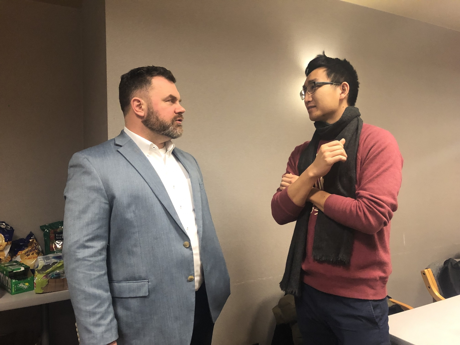 Left: Cap O'Rourke, Capitol Pathways Host, O'Rourke Strategic Consulting. Right: Sean Mock, Capitol Pathways alumnus '17, Capitol Pathways Mentor '19.