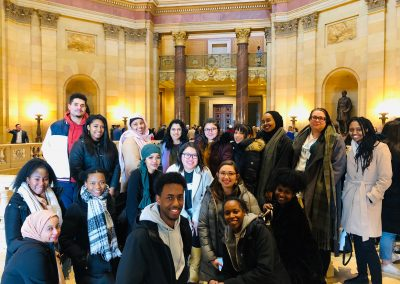 Capitol Pathways students visit the Capitol Rotunda.